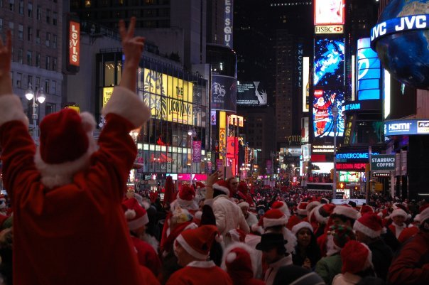 christmas, merry christmas, new york, nyc, santa, santa claus, times square