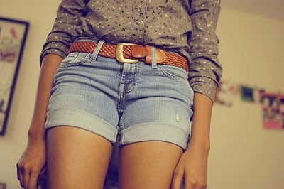 denim, fashion, girl, pretty, shirt, shorts, skinny, style