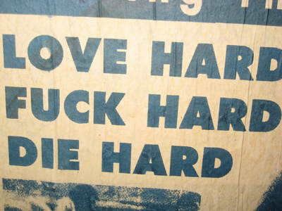 die hard, fuck hard, love hard, text