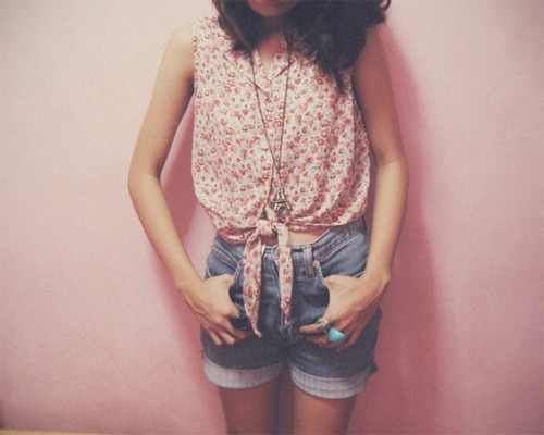 fashion, girl, headless, pink, vintage