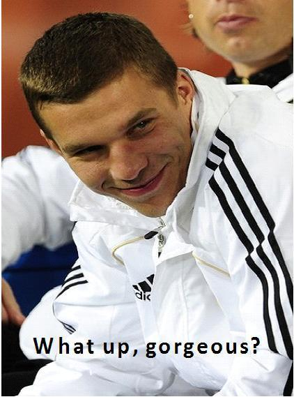 football, germany, gorgeous, podolski, soccer, swag
