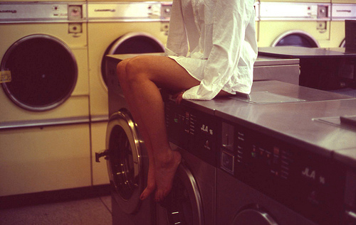 girl, laundry, shirt, white