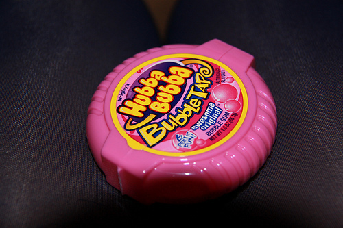 gum, hubba bubba, pink