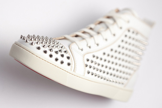 louboutin, shoes, spikes, tennis