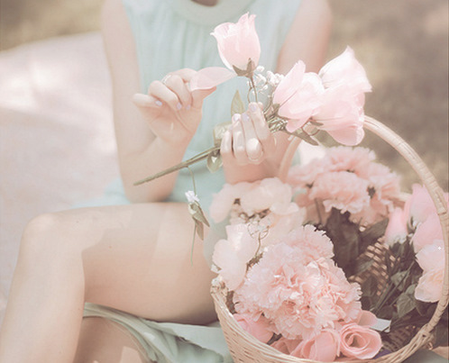 adorable, blossom, blue, cute, flowers, fresh, girl, legs, nature, rose, roses, tender