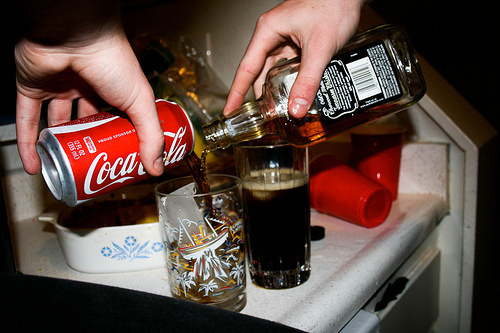 alcohol, coca cola, coke, drink it up, drinks - inspiring picture on ...