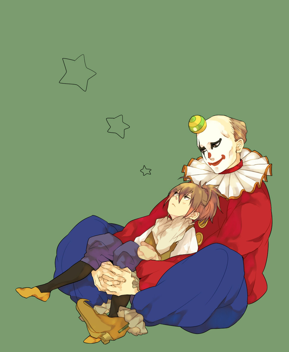 allen walker, anime, clown, joker, mana