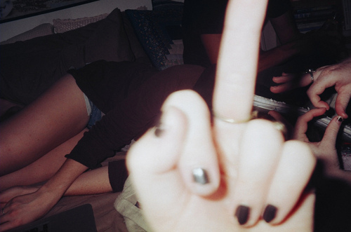 analog, fuck, fuck you, heart, middle finger, nails, photography