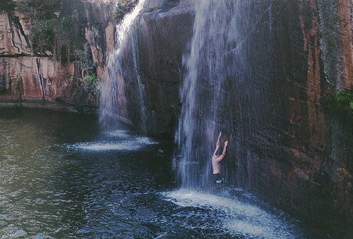 art, guy, nature, photo, photography, water, waterfall