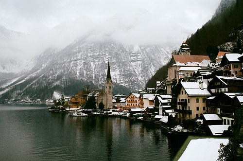austria, mountains, sea
