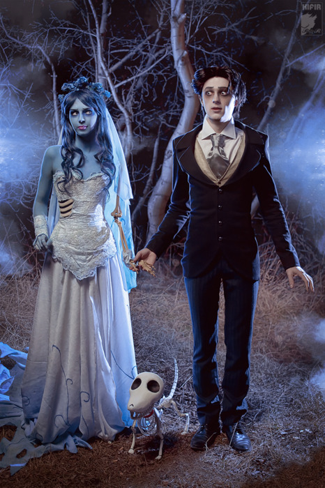 awesome, black, blue, bones, corpse bride