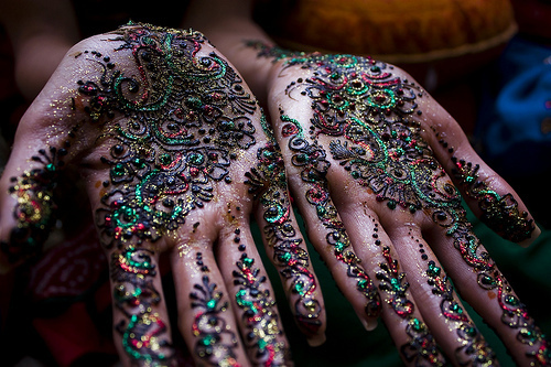 awesome, colorful, cool, hand, henna