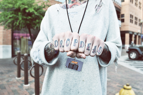 awesome, drop dead, hands, oliver sykes, sykes, tattoos, unface