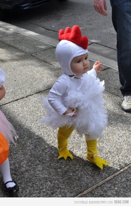 baby, chicken, costume, cute, halloween