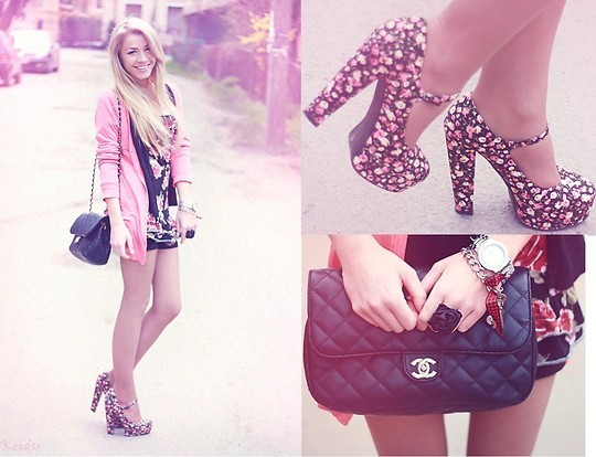 bag, blonde, chanel, fashion, girl