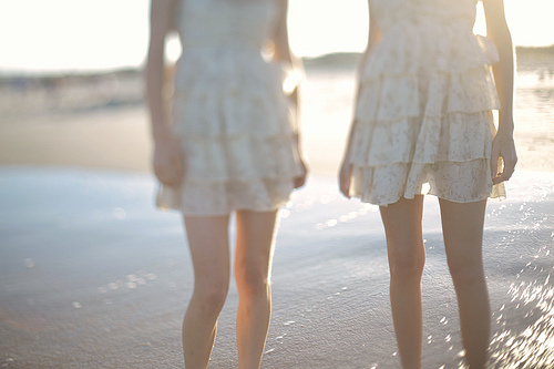 beach, beige, dress, fashion, i have that dress:)