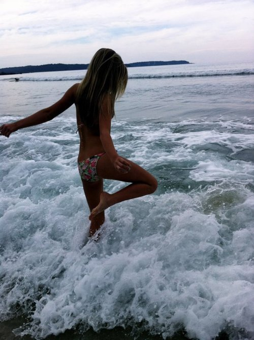 beach, bikini, girl, summer