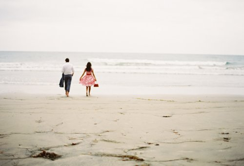 beach, breeze, couple, cute, dress