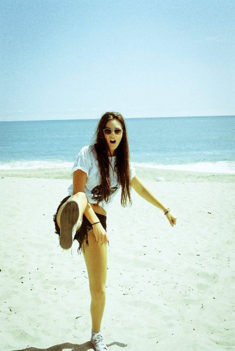 beach, girl, pretty, summer, sunny
