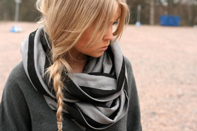 beautiful, black, blonde, braid, cute, emmi tissari, fashion, girl, hair, no fashion victims, photography, pretty, scarf