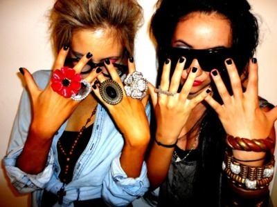 beautiful, colourful, denim, finger, girls