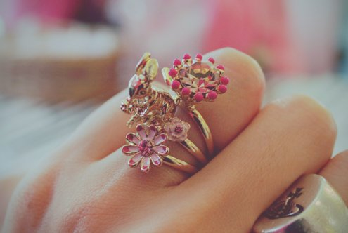 beautiful, girl, hand, ring