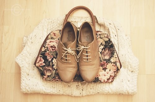 beige, fashion, floral, nide, oxfords