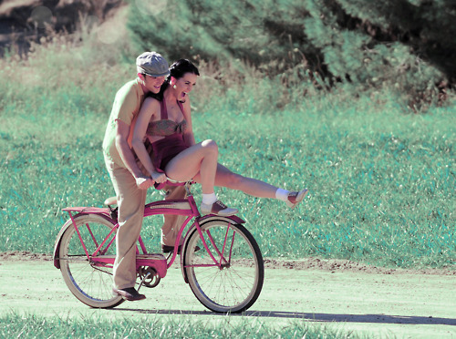 bike, couple, katy perry, thinking of you