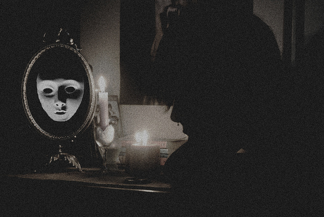 black, candles, dorian gray, mirror, septum