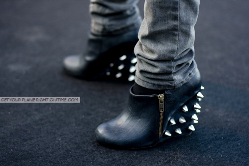 black, fashion, hot, leather, sexy, shoes, studs, style