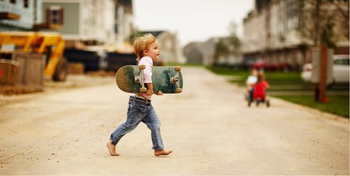 blonde, child, child with skate, children, kid