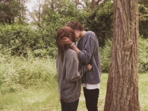 boy, brunette, couple, cute, fashion