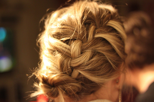 braid, hair, heart