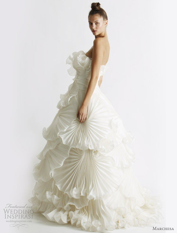 bridal, dress, fashion, gown, marchesa