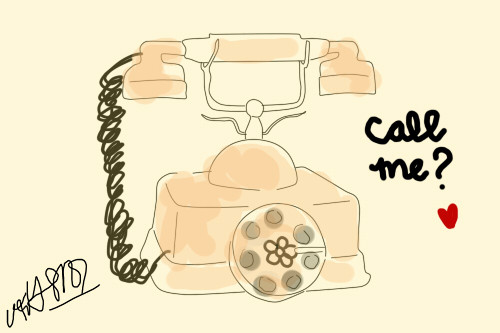 call me, cute, illustration, telephone