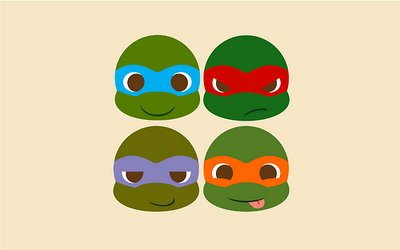 cartoon, cute, ninja, teenage mutant ninja turtles, tmnt