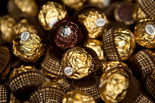 chocolate, ferrero rocher, hazelnut, photography