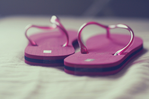 colours, flip flops slippers, light, photography, pink