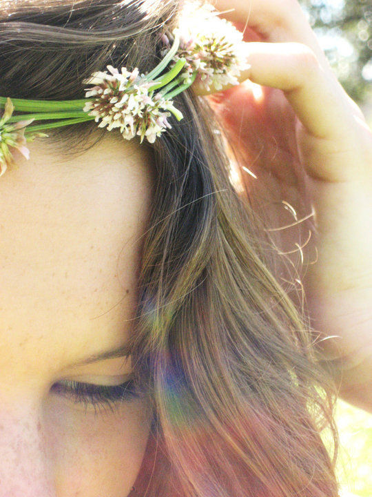daisy chain, flowers, girl, photography, pretty, vintage