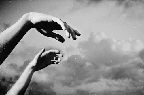 dark, family, hands, sky, stars