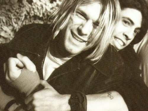 dave grohl, friends, kurt cobain, nirvana, old, vintage