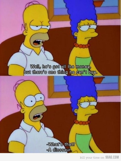 dinosaur, homer simpson, homero simpson, marge simpson, quote, text, the simpsons