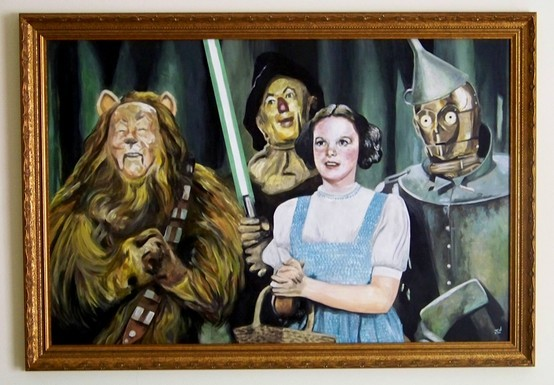 dorothy gale, funny, humor, judy garland, oz wars, poster, separate with comma, star wars, wizard of oz