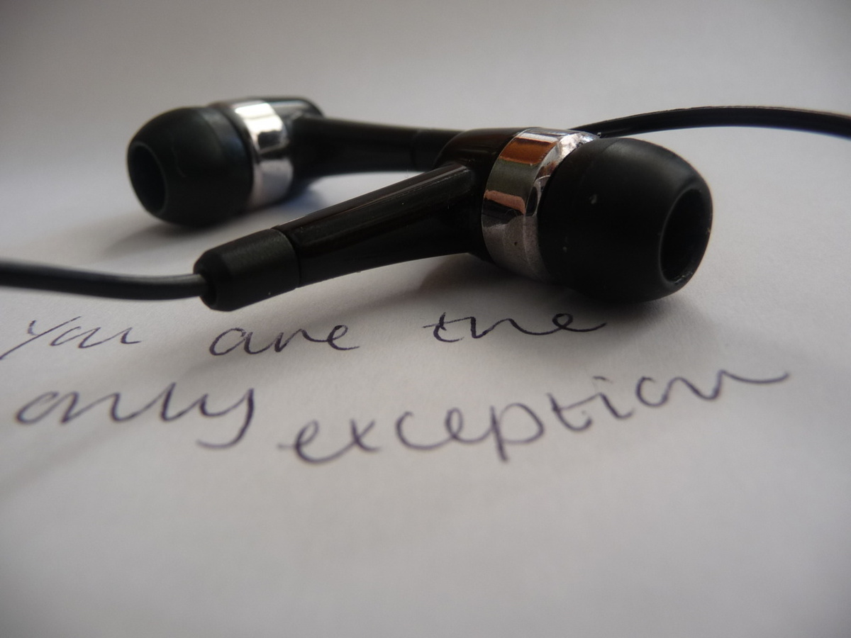 earphones, exception, hayley williams, lyrics, music