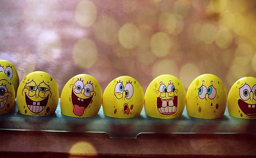 eggs, faces, sponge bob, spongebob, yellow