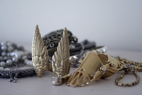 fashion, gold, ring, rings, silver, wings