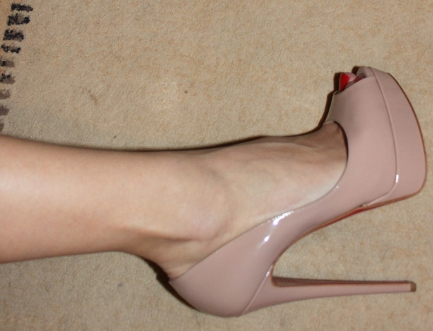 fashion, heels, louboutin, peep toe, shoes