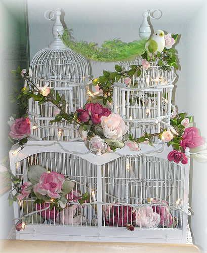 flowers, pink, rose, shabby chic, white