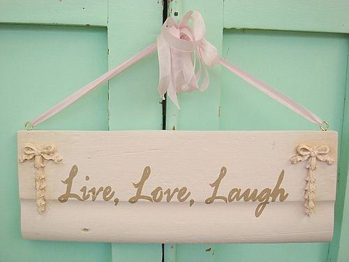 green, green door, laugh, live, love, pink, text, typography