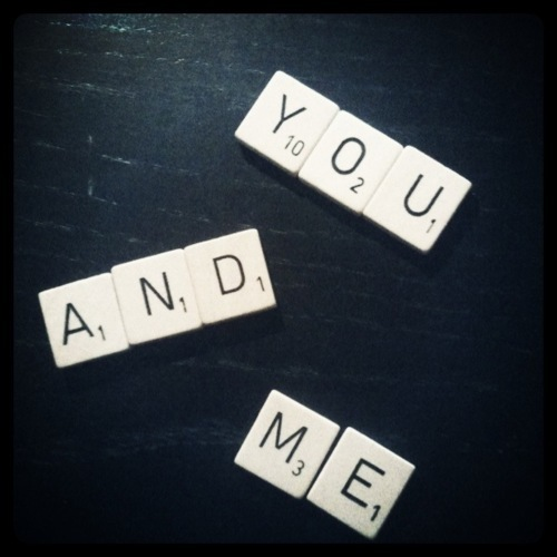 heart, love, scrabble, you, you & me
